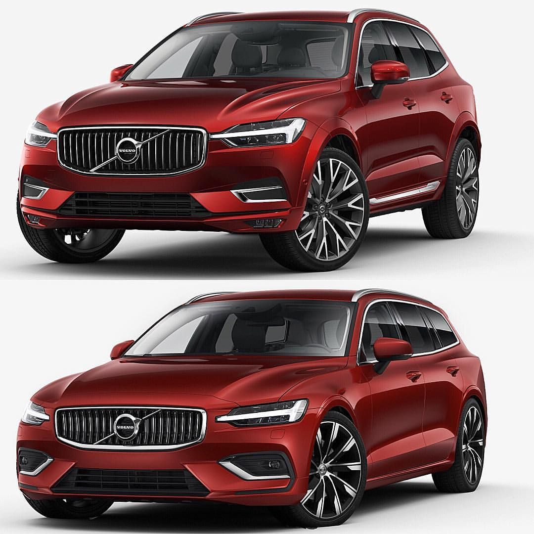 1 583 Likes 34 Comments Volvo Cars Volvo Worldwide On Instagram Volvo Xc60 Or New V60 Red Fusion Metallic Inscription Volv Volvo Cars Volvo Xc60 Volvo