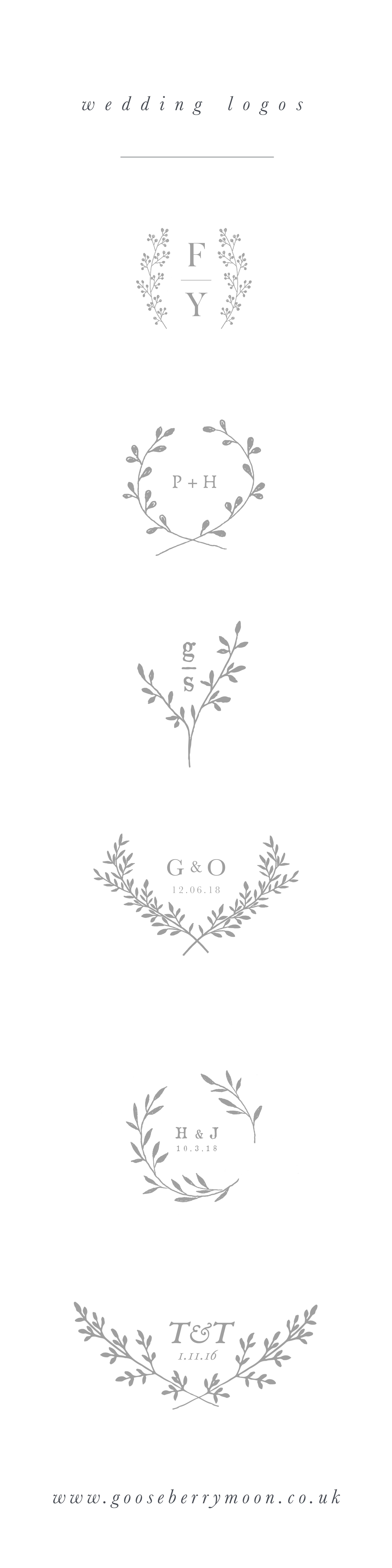 Wedding logo - wedding branding - wedding monogram - wedding crest ...