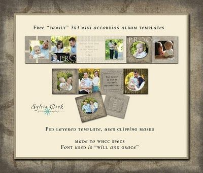Free mini accordion album #photoshop #template #minialbum #freebie - photo album templates free