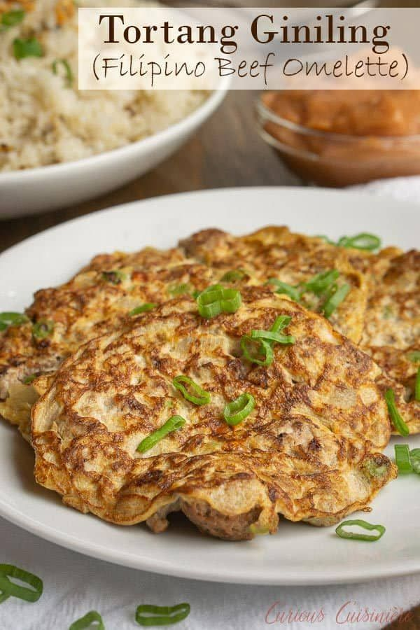 Photo of Tortang Giniling (Filipino Beef Omelette) • Curious Cuisiniere