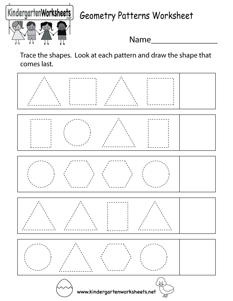 This is a fun shape tracing patterns worksheet. You can download ...
