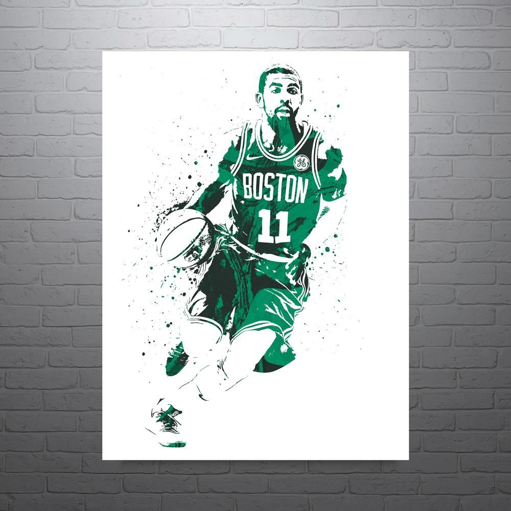 1 ONCE A CELTIC Choose a Size KYRIE IRVING Photo Quality Poster