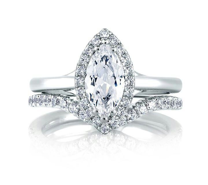 Classic Halo Marquise engagement ring jewelry Pinterest