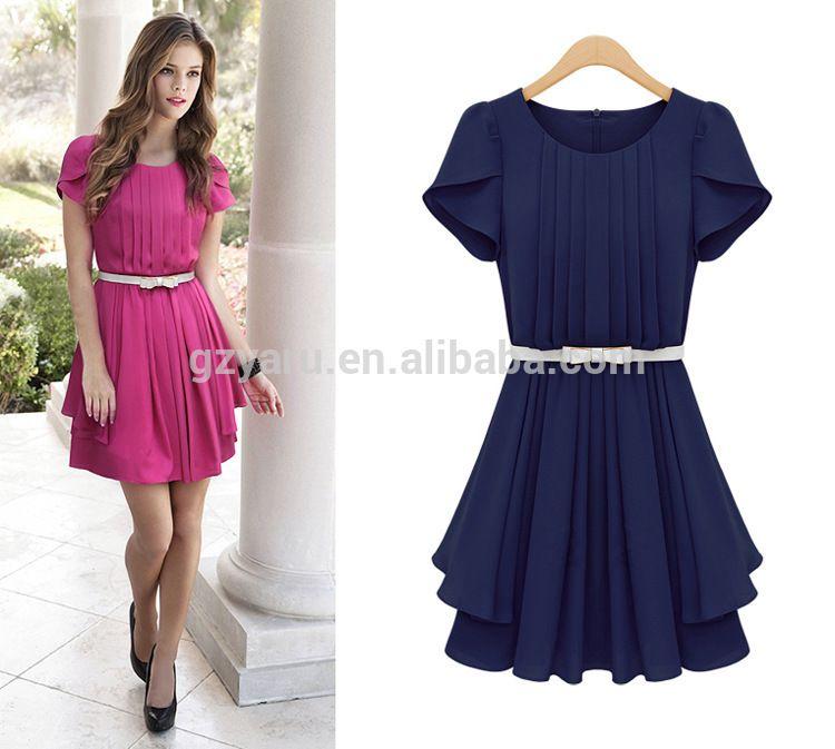 Short sleeve summer dresses for women