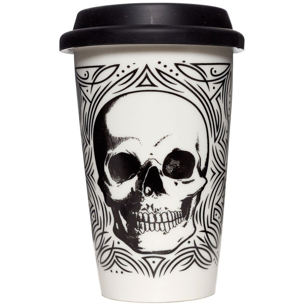 Skull Tumbler from Sourpuss at Beadesaurus | Free UK Shipping Over £25