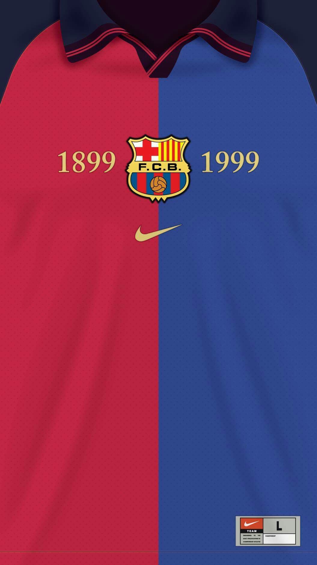 Wallpaper iphone barcelona - Jersey Fc Barcelona 1999
