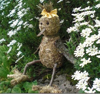 Gartendeko-Blog Heu-Vogeldame Heu Pinterest Heu, Gartendeko - gartendekoration selber basteln