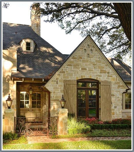 French Country Style Home Exterior: Love The Shutters For My House