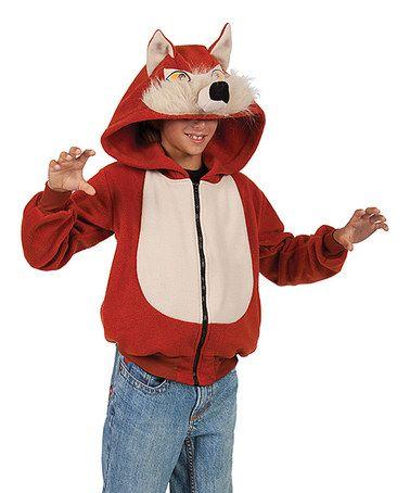 This Rust & Cream Wild Red Fox Zip-Up Hoodie - Kids is perfect! #zulilyfinds