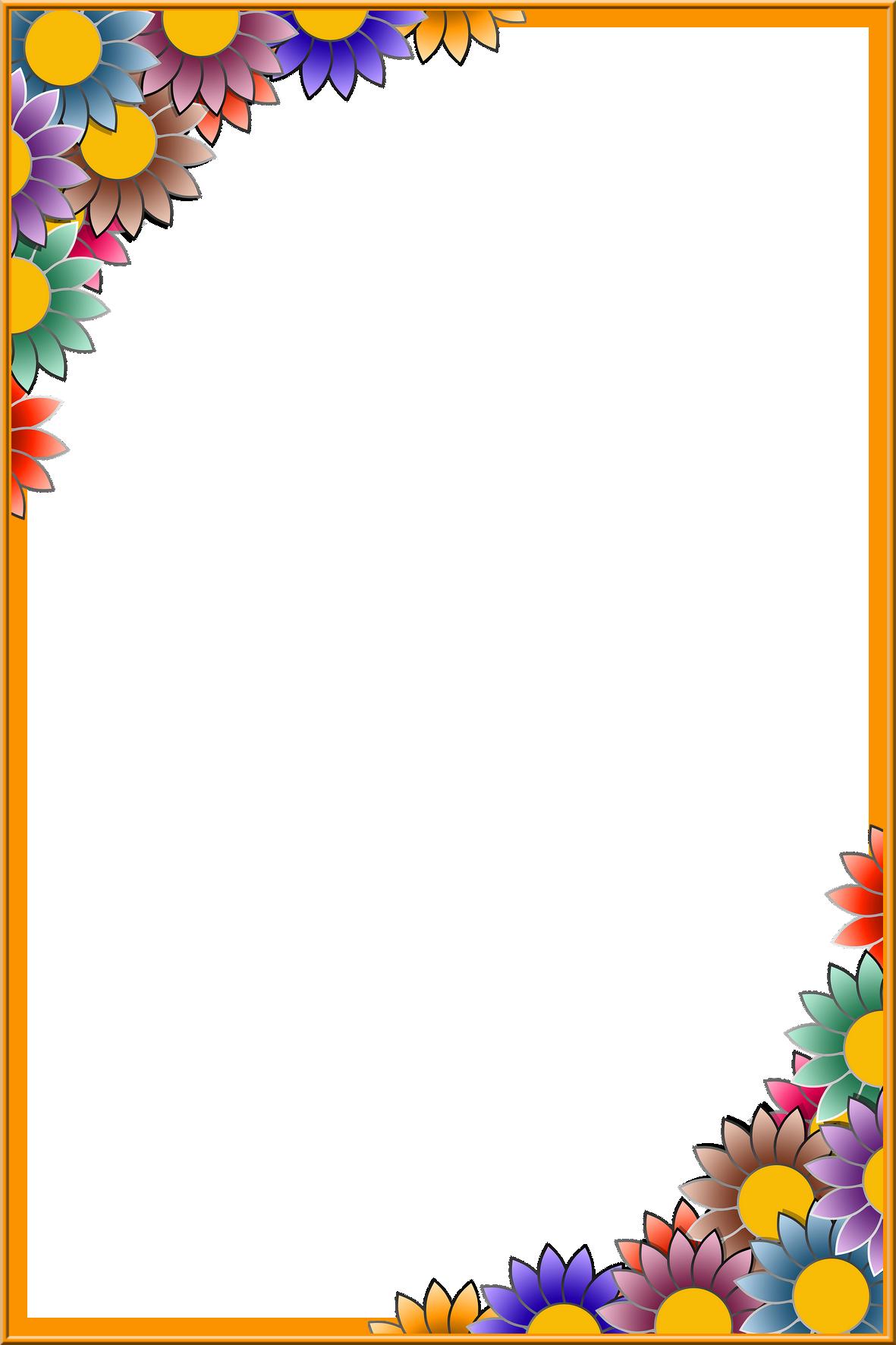 Frame Png Colorful Borders Design Page Borders Design Boarder Designs