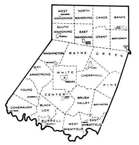 Indiana county Township Map genealogy Pinterest Genealogy