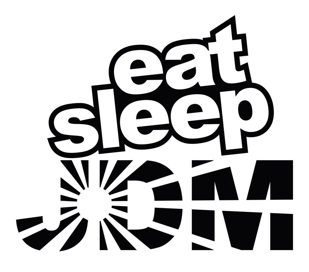 Eat Sleep Jdm Rising Sun Car Body Window Bumper Vinyl