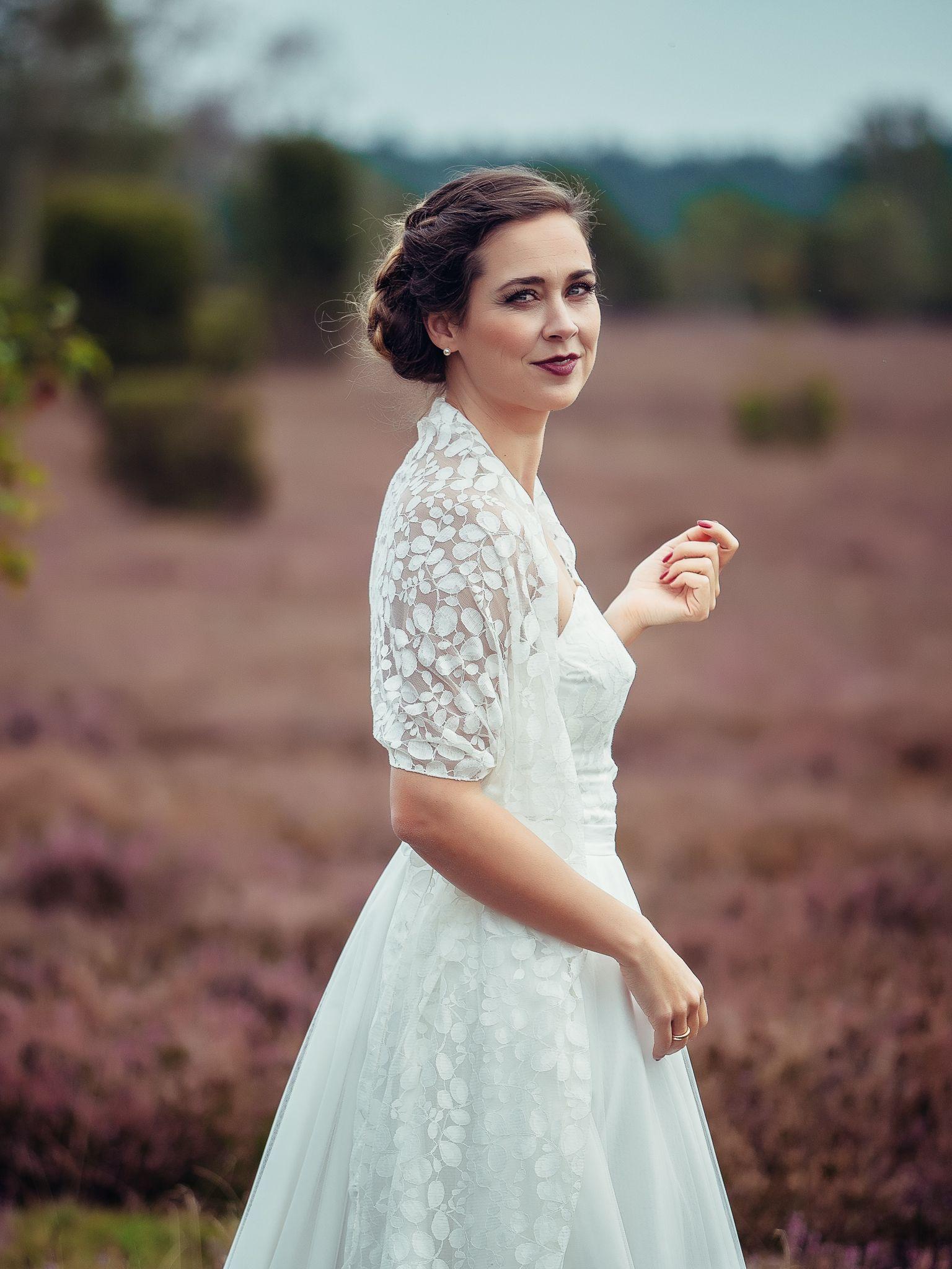zweiteiliges Brautkleid mit Tüllrock \
