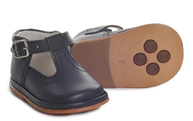Baby Boys Navy Leather T-Bar Shoe | Oren | Baby Boys Shoes ...