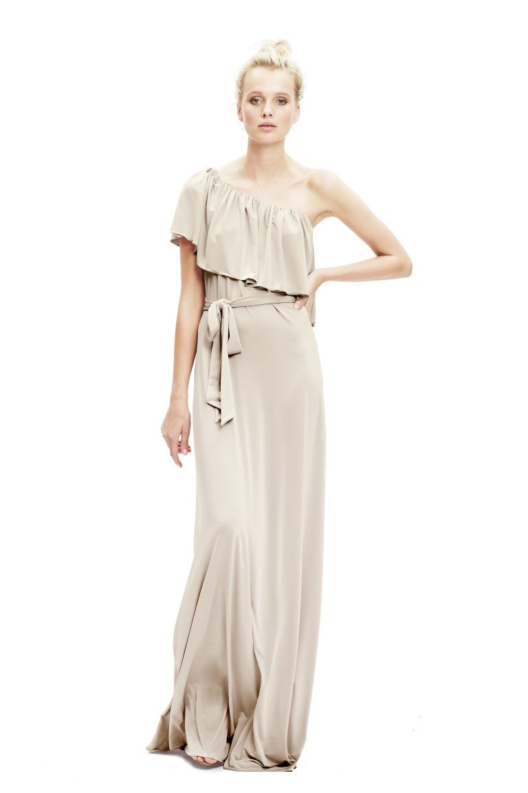 Maya in jersey by twobirds bridesmaid dream bridesmaid dresses a dress that can be worn in 5 different ways maybe more includes detachable straps for extra support and an option sash to cinch the waist ombrellifo Images