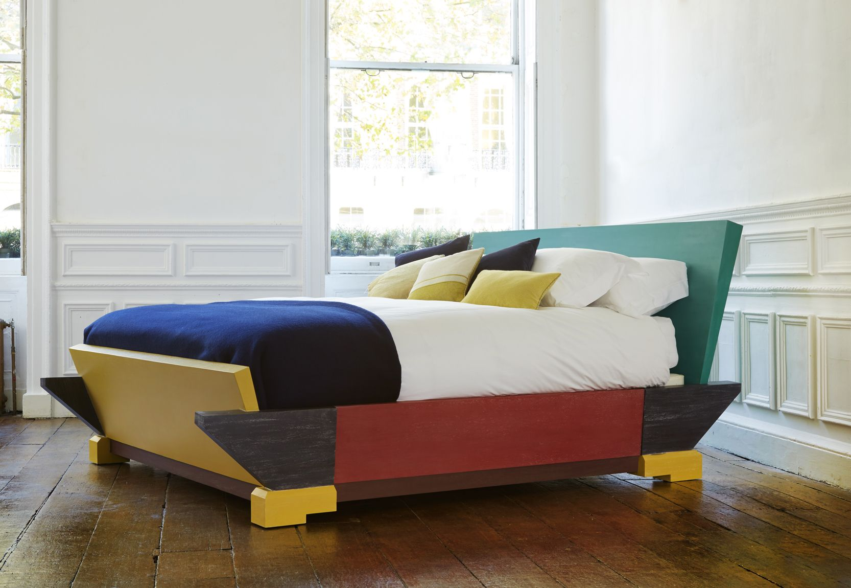 Simon Horn S Cubist Bed Inspired By The Paintings Of Mondrian