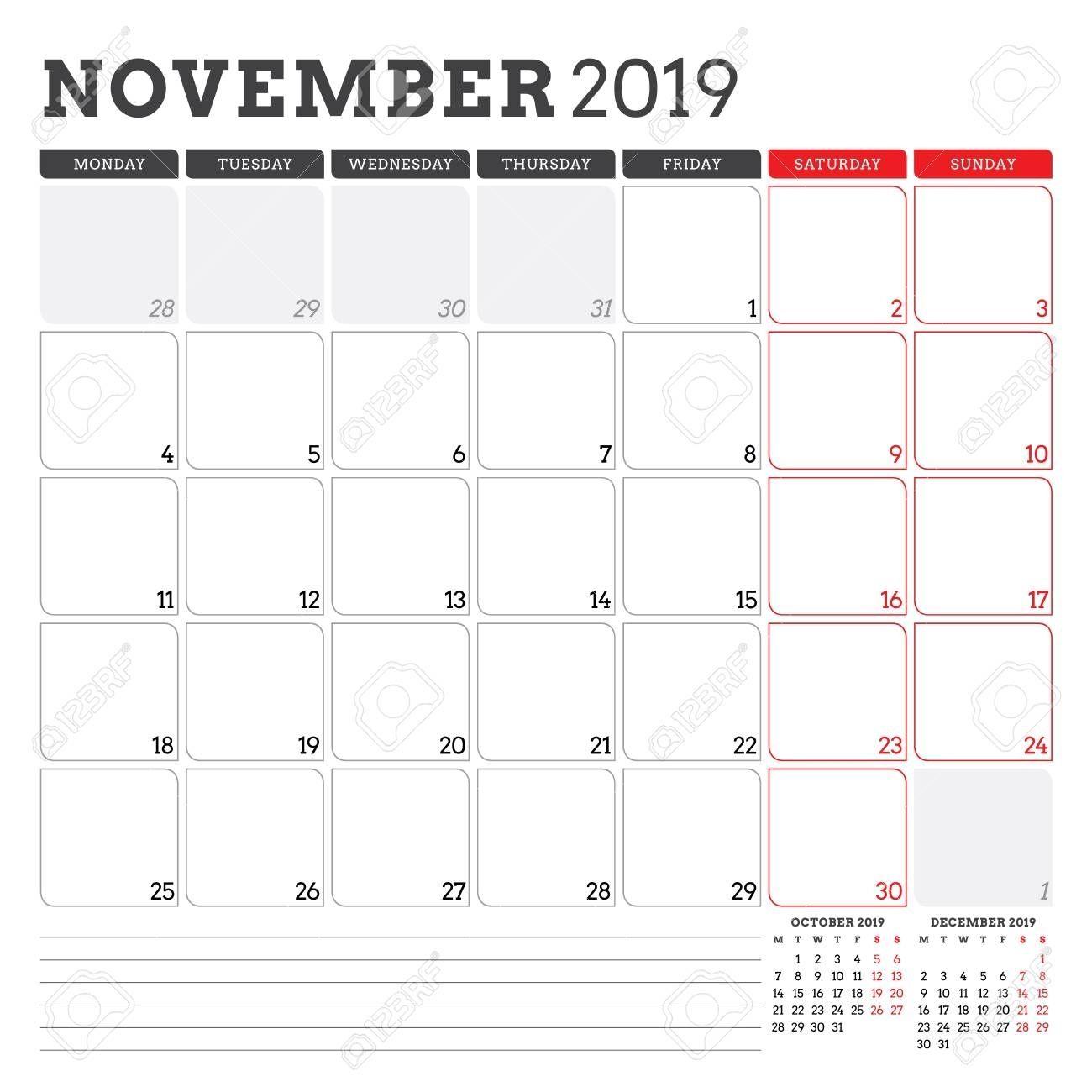 Get Clipart Free Calendar November 2019 Free Calendar