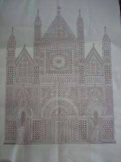 Minhas alunas - Lee Albrecht: Blackwork - Catedral de Orviedo - Itália