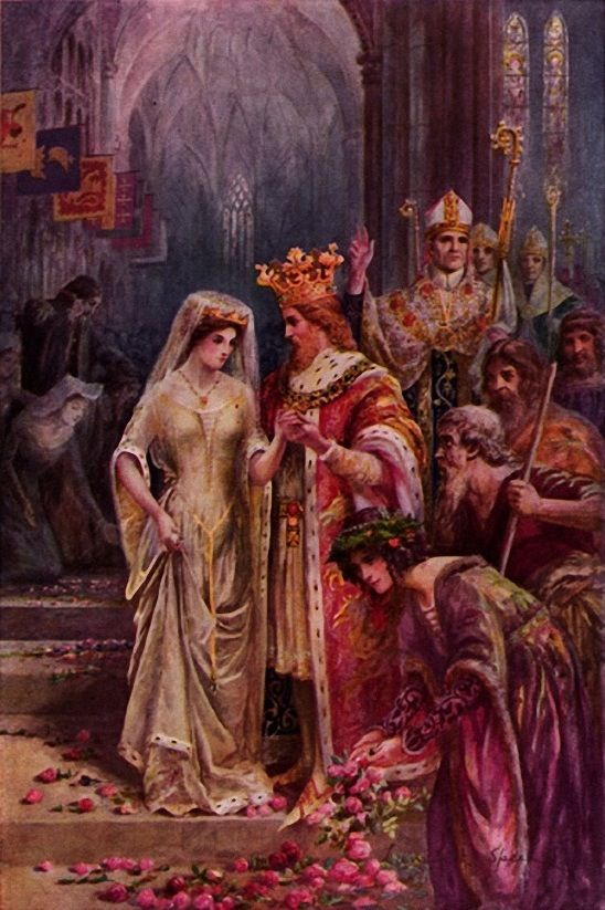 The Marriage Of King Arthur By Lancelot Speed 1860 1931 King Arthur Arthurian Legend Arthurian