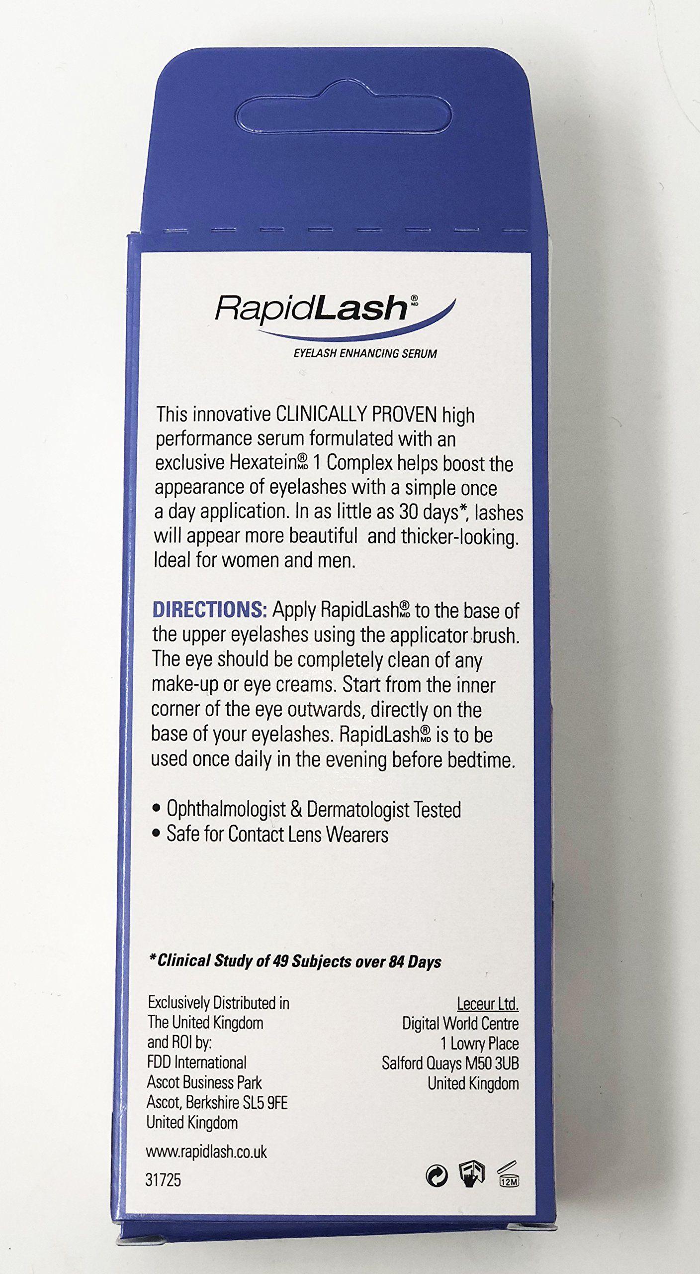 32681356d5b Rapidlash Eyelash and Eyebrow Enhancing Serum (3ml),0.1-Fluid Ounces Bottle,