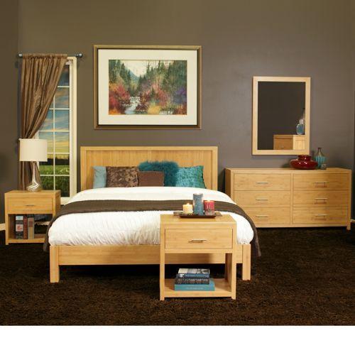Aniko 5 Piece King Bamboo Bedroom Set, Bamboo Bedroom Furniture Set