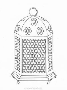 Free Coloring Page For Children And Adults Fanoos Ramadan Free