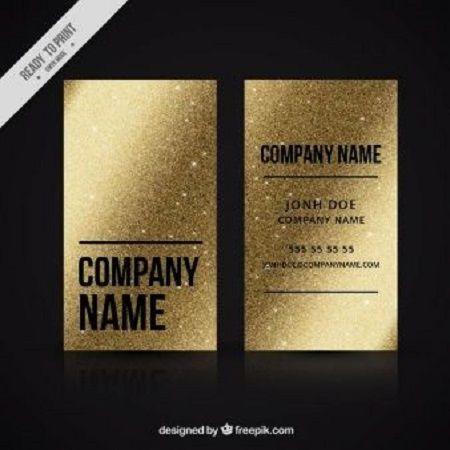 20 Golden Business Cards Designs For Inspiration Foil Stamped Business Cards Card Design Business Card Design