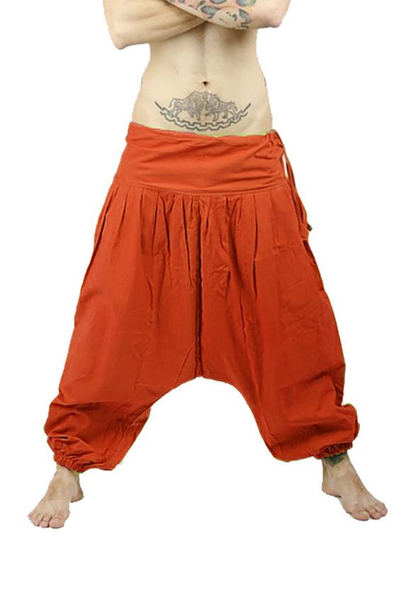 Short Afghani khaki Sarouel trousers