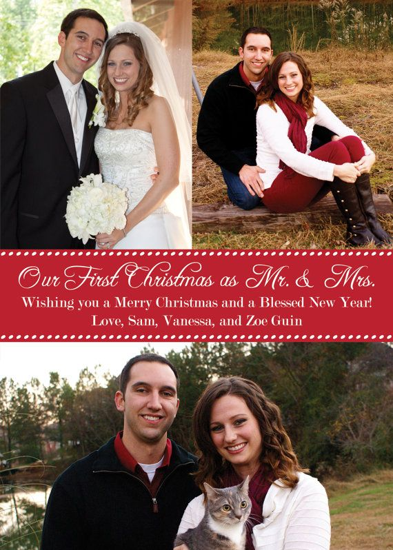 Christmas Card Our First Christmas As Mr And Mrs First Married