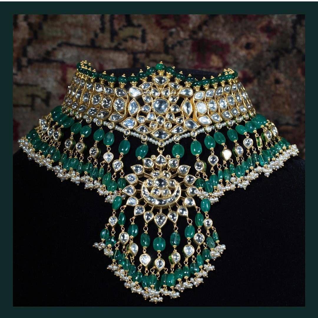 Kundan Polki Meena Padmavat Amrapali Chokar Neckalec Bridal Party Jewelry Elegant And Sturdy Package Jewelry & Watches