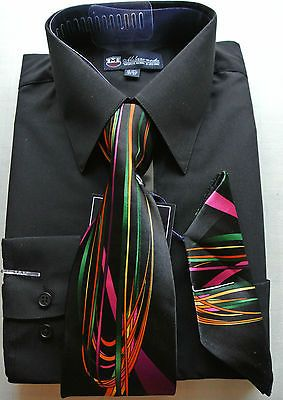new coming -Men's Milano Moda Dress Shirt + Matching Tie ...