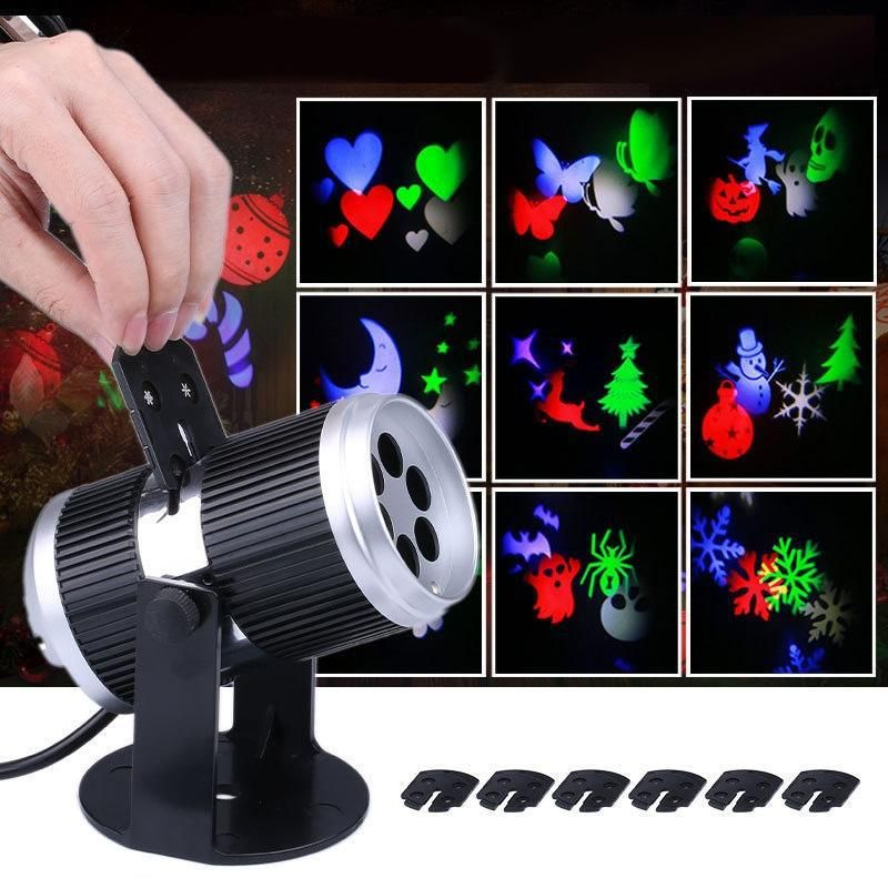 Lumiparty 6 Types Holiday Decoration Stage Light Christmas Party Laser Snowflake Projector Outdoor Led Disco Light For Home Holiday Lights Outdoor Disco Lights