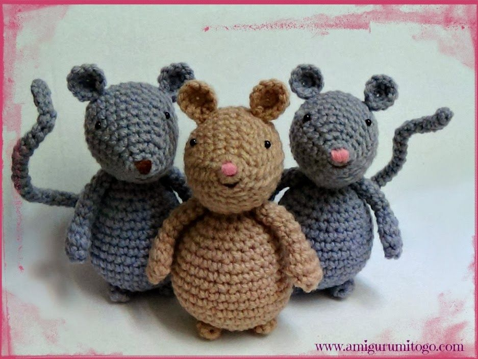 Amigurumi To Go: Video Amigurumi Mouse Tutorial In English Dutch ...