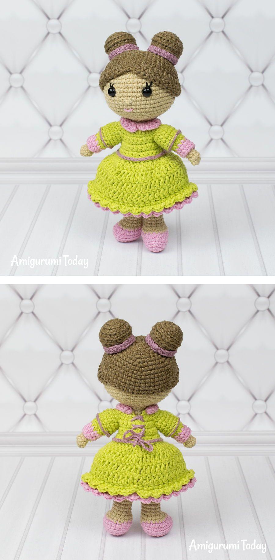 Little lady doll crochet pattern | Muñecas amigurumi | Pinterest ...
