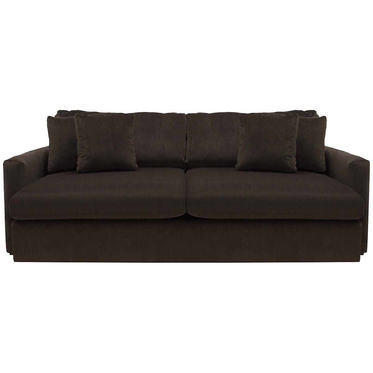 Tara2 Dark Brown Microfiber Sofa Sofa Microfiber Sofa Living Room Sofa