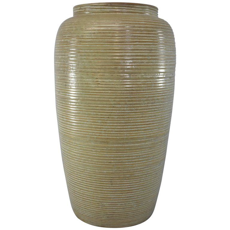 Mid Century Monmouth Pottery Large Floor Vase From A Unique