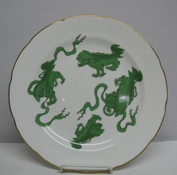 Chinese Tigers Green Dinner Plate - asian - Plates - Tabletop Designs & Chinese Tigers Green Dinner Plate - asian - Plates - Tabletop ...