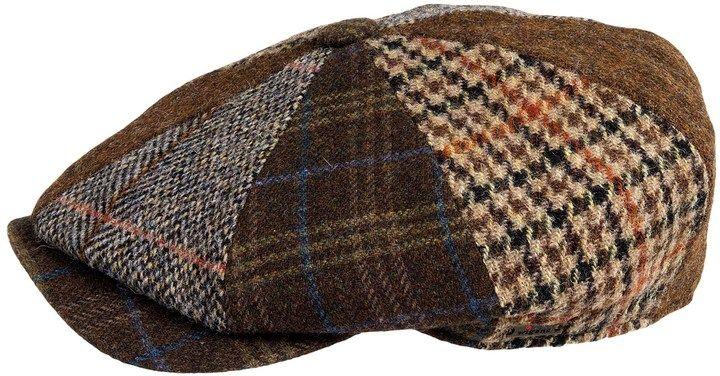 c6cebef9 Wigens Patchwork Newsboy Cap - Wool, Snap Brim (For Men)   Men's ...