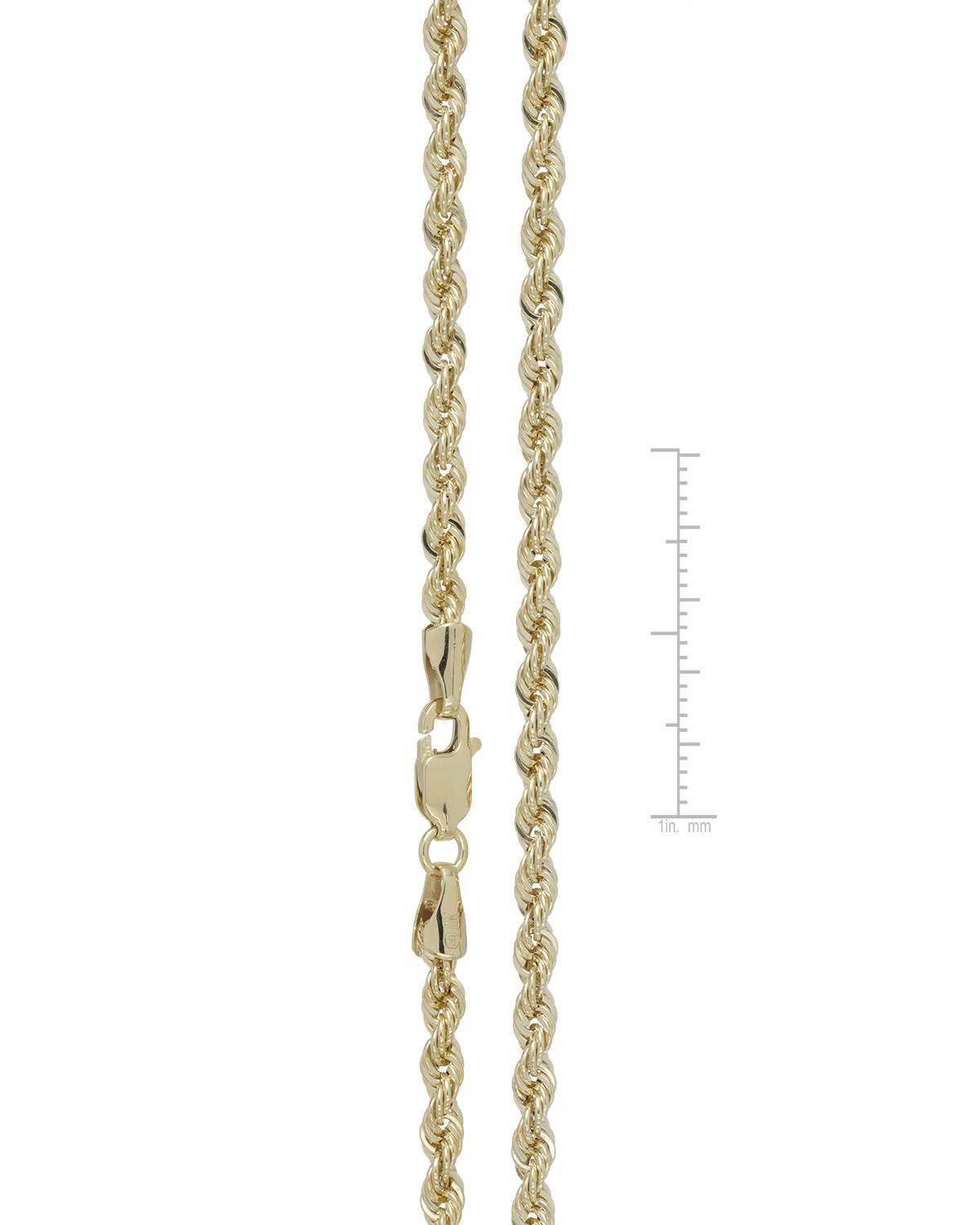 Mcs Jewelry 10 Karat Yellow Gold Solid Rope Chain Necklace 2 25mm Length 16 30 20 Affiliate Mcs Yellow Necklace Jewelry Necklace