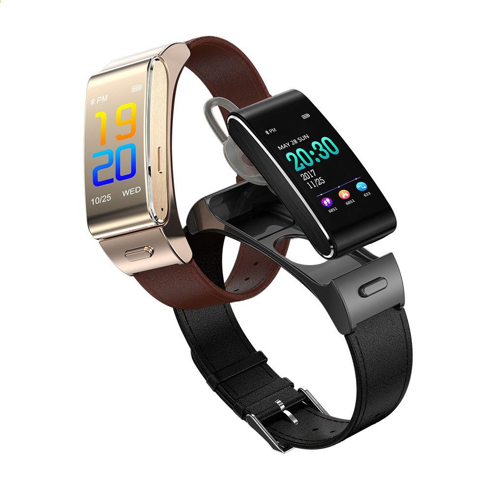 Intelligente Elektronik Unterhaltungselektronik Smart Armband Farbe Screen Bluetooth Kopfhörer Herzfrequenz Blutdruck Armband Headset Fitness Tracker Für Android Ios