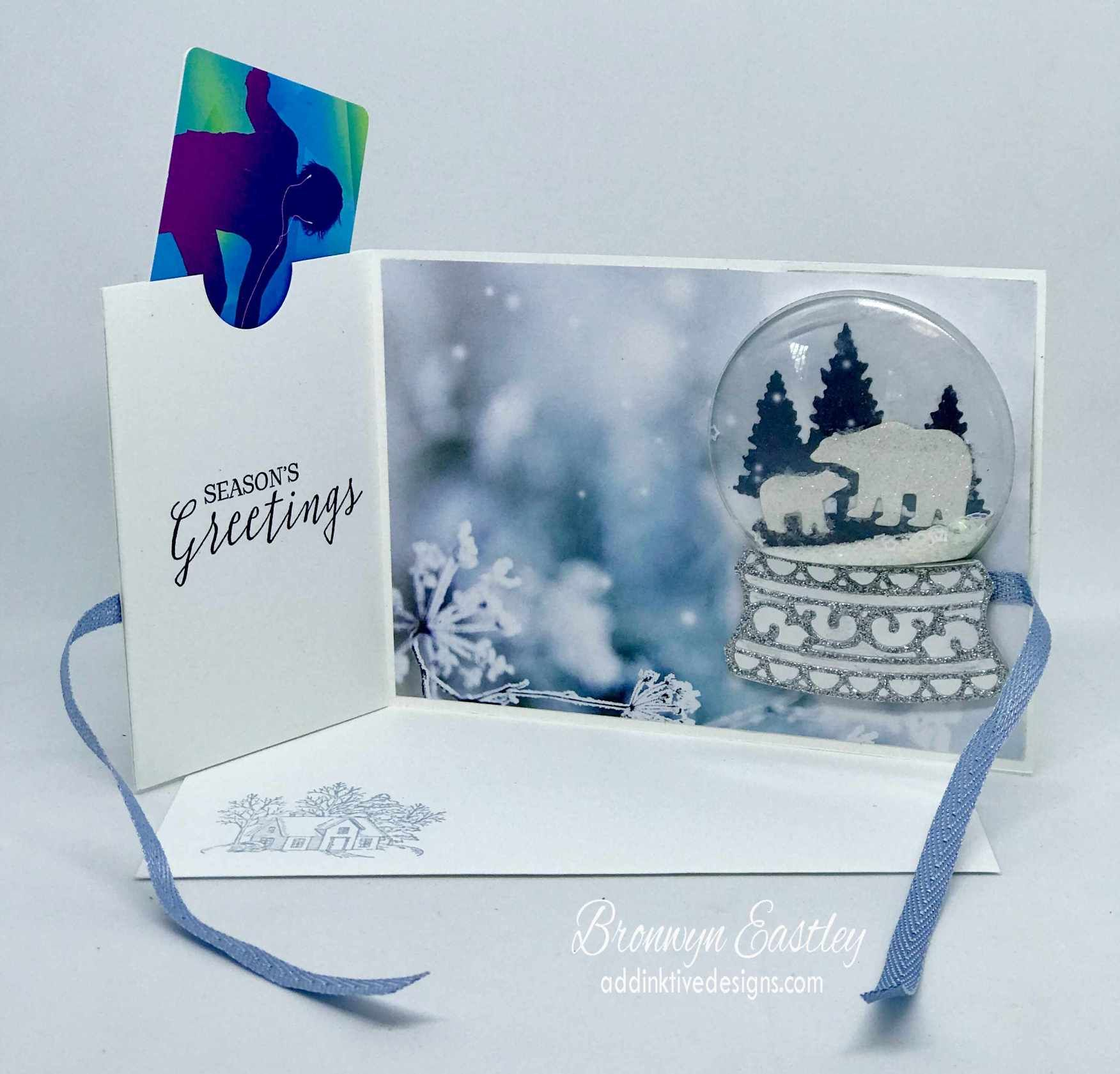 Snow Globe Scenes Gift Card Holder 10 Gift card holder