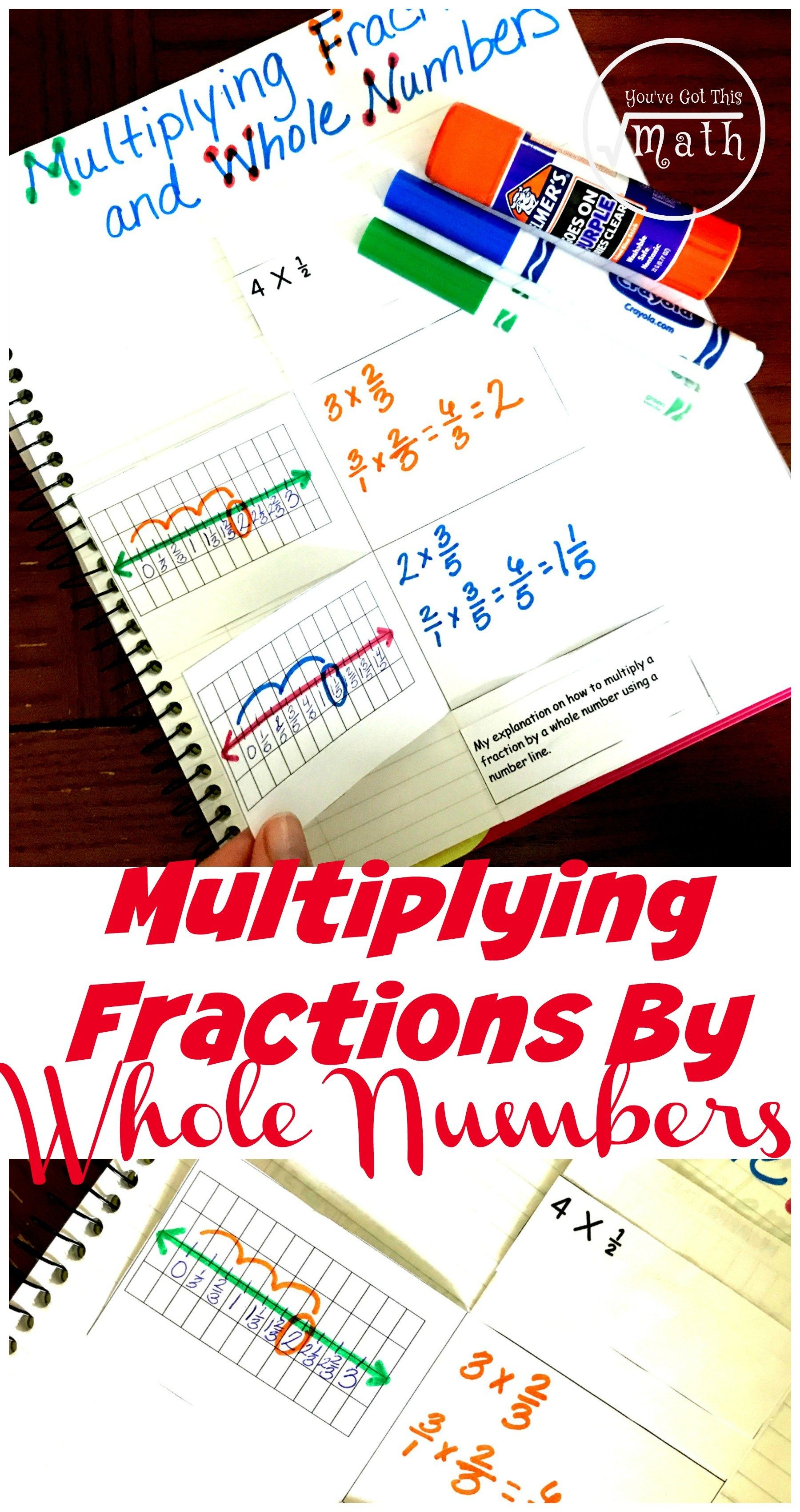 Worksheet Multiply Fraction By Whole Number