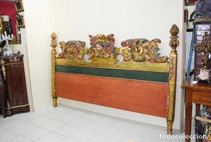Antig edades precioso cabecero antiguo de madera tallada - Cabecero madera tallada ...