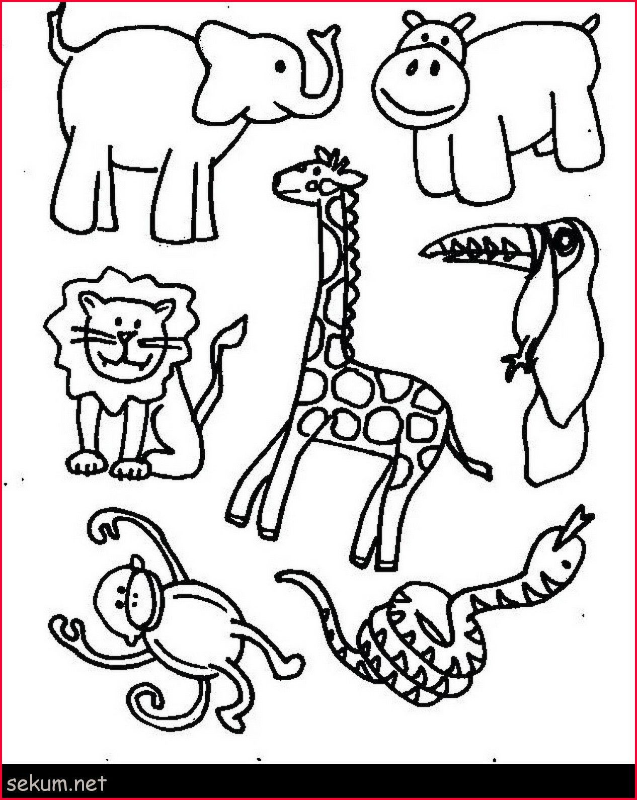 Jungle Animal Coloring Pages Printable Jungle Animal Coloring Pages 254909 Animal Coloring Pages Entitlementtrap Com Zoo Animal Coloring Pages Jungle Coloring Pages Zoo Coloring Pages