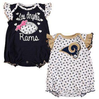 best website 51caa d2ac4 Los Angeles Rams Girls Infant Two-Pack Heart Fan Bodysuit ...