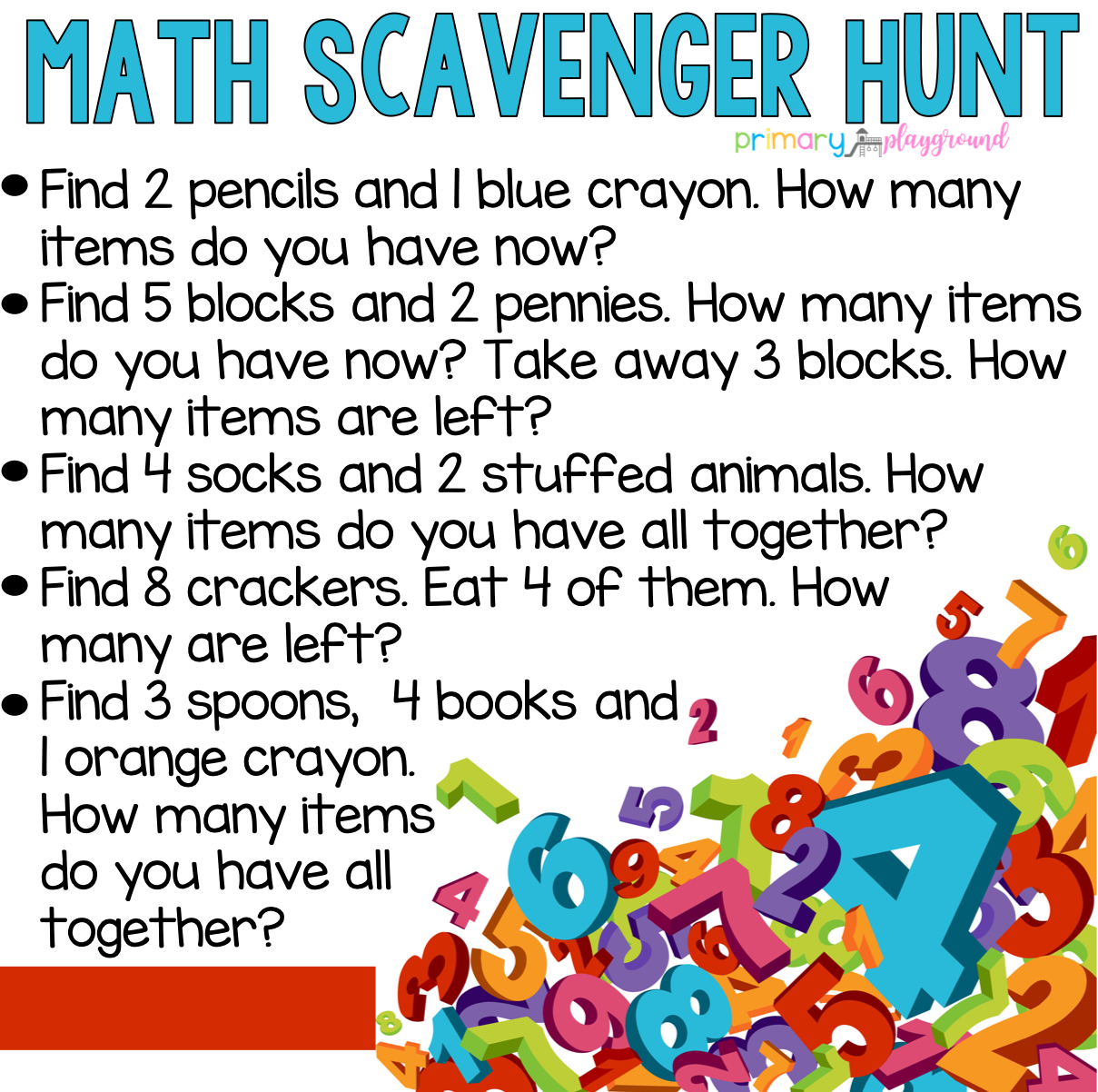Scavenger Hunts Primary Playground Preschool Math Homeschool Math Preschool Learning [ 1202 x 1209 Pixel ]