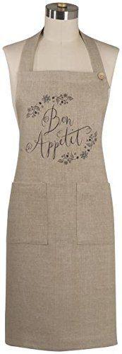 Now Designs Linen Apron, Bon Appetit   Durable, natural fabric provides heirloom quality kitchen protection.