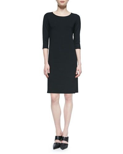 T9BCT Eileen Fisher 3/4-Sleeve Jersey Dress | Me Made Wardrobe ...