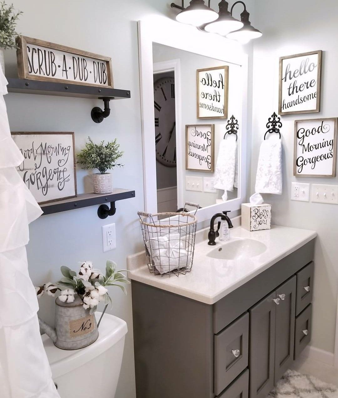Pin By Anna Busby On New Home Pinterest Bathroom Home