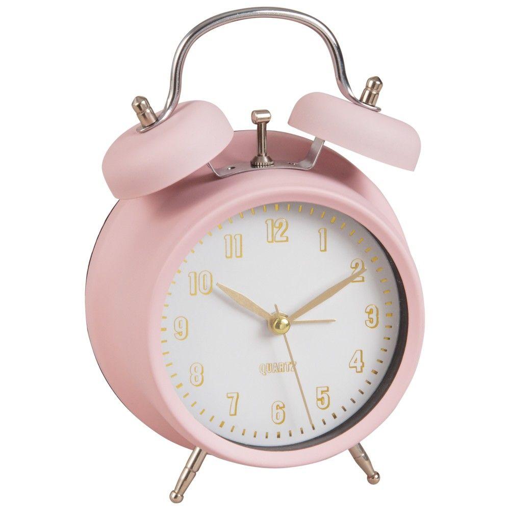 Pink Metal Alarm Clock in 2019   home etc   Bedroom, Room Decor